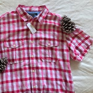 Men's Banana Republic Plaid Button Down Shirt NWT